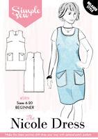 Womens Ladies Beginner The Nicole Dress UK 6-20 Sewing Pattern