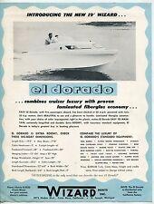 """Vintage """"Wizard Boats Inc"""" Sales Flyer: The New 19' Wizard """"El Dorado"""" Boat"""