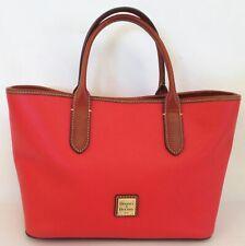 Dooney & Bourke Orange-Red Pebble Leather Multi-Pocket Tote Purse