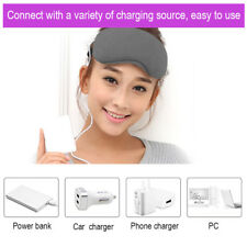 USA Grey Color Travel Sleep Eye Masks USB Heated Rest Eye Shade Cover Blindfold