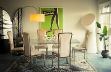 Six 1970s Italian gold dining chairs Mid Century Modern Hollywood Regency style