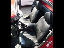 HONDA DEL SOL 1993-1997 BLACK S.LEATHER CUSTOM FIT FRONT SEAT COVERS