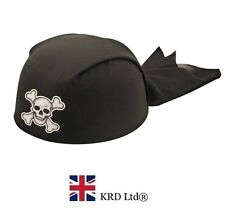Adult PIRATE BANDANNA HAT Bandana Skull Crossbone Headwear Party Accessories UK