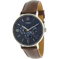 Timex Men's Southview TW2T35100 Silver Leather Quartz Fashion Watch