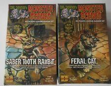Lot of 2 Dr Deadly's Monster Scenes Dencomm Feral Cat famous Aurora monsters