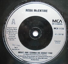"""REBA McENTIRE - What Am I Going To Do About You - Ex Con 7"""" Single MCA 1136"""
