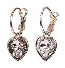 Pierced Earrings Rho 00004000 dium Authentic 7345a Swarovski Elements Crystal Heart Drop
