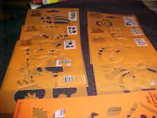 Halloween 7 Stencils Witch Trick or Treat Pumpkin Fall  Welcome All Night Media