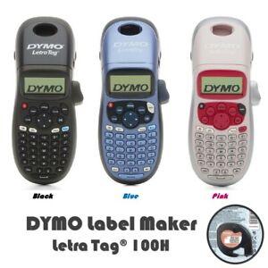 DYMO LetraTag 100H Handheld Label Maker HOME OFFICE  BLACK/BLUE/PINK