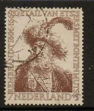 Paesi Bassi sg828 1956 7c+3c Marrone Fine USATO