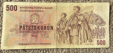 More details for czechoslovakia: 500 korun banknote from 1973 in vg condition. z83 709737