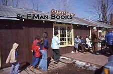 KODACHROME 35mm Slide Canada Quebec Maple Syrup Cabin Shack People Fashion 1977!
