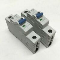 Lot of 2 AB Allen Bradley 1492-SPM1C100 Circuit Breakers 10A, 1-Pole, 277VAC