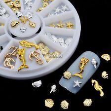 3D Nail Art De uñas Arte Strass Acrílico Glitters Tips decoración Oro plata DIY