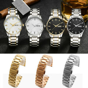 Universal All Match Stainless Steel Classic Watch Band Strap Bracelet Wristband