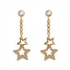 DSE 5087613 Entwined Star Long Earrings Swarovski crystal / gold-plated MIB