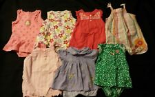 Baby Girl Size 12 months Spring & Summer Clothing Lot * Rompers *