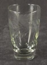 Vintage Libbey Glass Rock Sharpe Cut WHEAT Pattern 10OZ Flat Bottom Tumbler