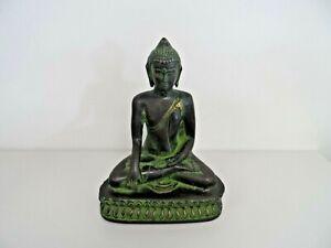 Small Cast Metal Faux Bronze Buddha Sculpture  B62