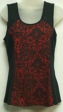 Maurices Black w/red Sleeveless Top Size Small SEE PHOTOS