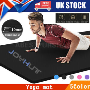 15mm/10mm Yoga Mat Gym Fitness Workout Non Slip Soft Exercise Mat Pilates Mat UK