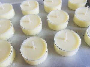 Soy Wax Tealights Unscented 100% Natural soy Tea light 4-6 hour clean burn