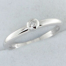 9Carat Solitaire White Gold Fine Rings without Stones