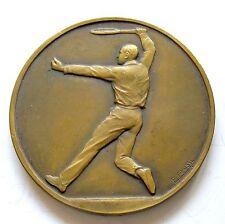 g027 France Vichy 1930 Man Tennis Contest Sports winner prize medal by F.Frais