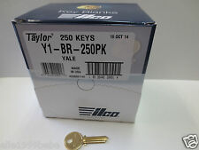 Lot of 10 Y1 YALE Key Blanks  / Brass / Made in USA  by ILCO
