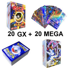 Flash TCG Pokemon Card Lot 40 Game Cards Ultra Rare GX Mega EX Trading No Repeat