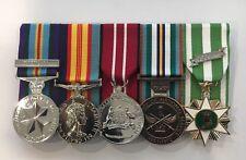 AASM, Vietnam Medal, ADM, National Service, Full Size Court Mounted Set Medals