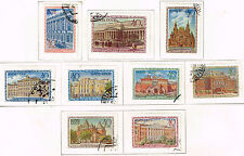 Russia Moscow Famous Achitecture Museums stamp set 1950