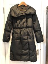 Theory Long Black Down Puffer Coat Parka P Petite XS S Small