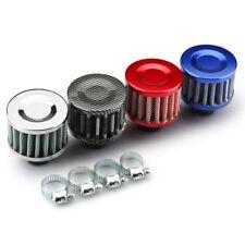 Mini Cold Air Intake Filter Turbo Vent Crankcase Car Breather Valve Cover 12mm