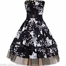 Cotton Blend 50's, Rockabilly Floral Dresses for Women