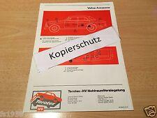 Volvo 120, 122, 123 GT Amazon,  Terotex Hohlraum Versiegelungs - Plan