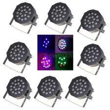 8Pcs 25W RGB PAR Stage Light Lighting Strobe DMX512 7CH Party Bar AC90-240V B8P8
