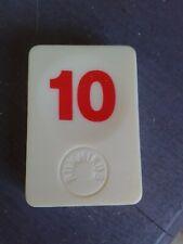 PION RUMMIKUB N° 10 ROUGE D'ORIGINE 4cm X 3cm