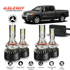 9005 9006 LED Headlight Bulbs Hi/Lo Beam Fog For Nissan Titan 2004-2015