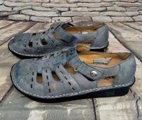 Alegria PG Lite Sandals Pesca Fisherman Mary Janes Shoes Blue Size 35 U.S 5/5.5