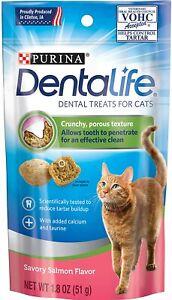 Purina Dentalife Dental Cat Treats Savory Salmon Flavor New! 1-1.8 OZ Bag