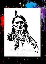 Indian Warrior 01 Airbrush Stencil,Template
