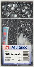 Prym Druckknöpfe Anorak schwarz brüniert, 15 mm, 100 Stück, Multipack, 390261