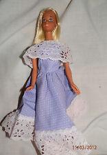 "11 1/2"" Fashion Doll Lavender Dress & Pink Lace Shoulder Cape - Handmade Sewn"