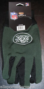 NFL New York Jets Utility Gloves Green w/ Black Palm by FOCO