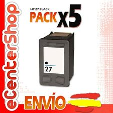 5 Cartuchos Tinta Negra / Negro HP 27XL Reman HP Officejet 5610
