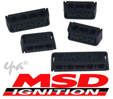MSD PRO-CLAMP IGNITION WIRE LEAD SEPARATORS BLACK 7-9MM SET OF 8 MSD8843