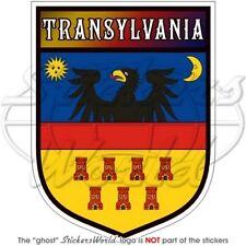 """TRANSYLVANIA Shield Romania 4"""" (100mm) Bumper Sticker"""