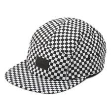 Vans DAVIS 5 Panel Camper Hat (NEW) Mens Cap CHECKERS CHECKERBOARD Free Shipping