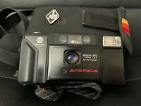 Minolta AF-E 35mm compact point & shoot film camera tested! working! + case lomo